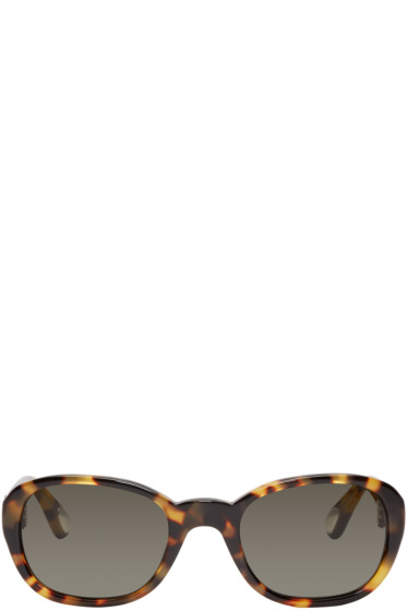 Ann Demeulemeester - Tortoiseshell Rounded Linda Farrow Edition Sunglasses