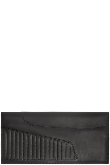 Ann Demeulemeester - Black Leather Biker Wallet