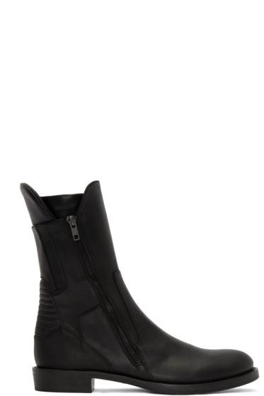 Ann Demeulemeester - Black Biker Boots
