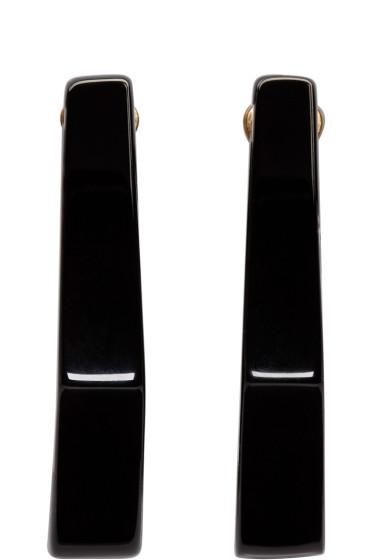Marni - Black Geometric Earrings