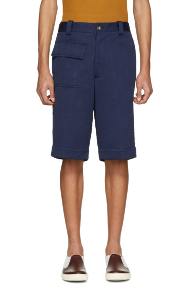 Marni - Navy Cloqué Shorts
