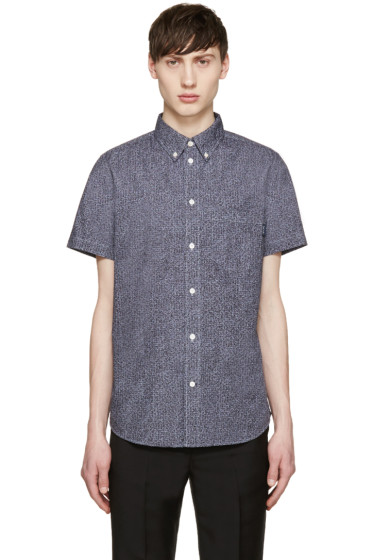 Paul Smith Jeans - Blue Scribble Print Shirt