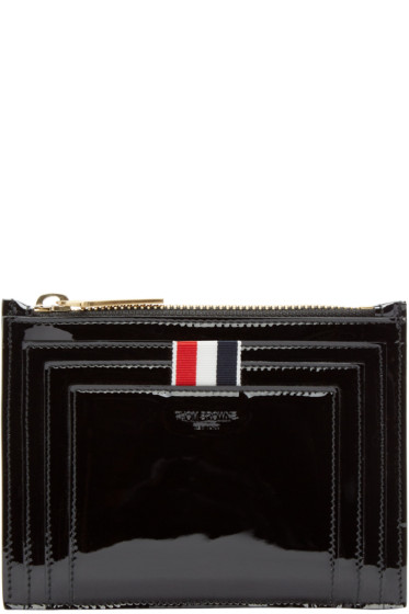 Thom Browne - Black Patent Leather Small Coin Pouch