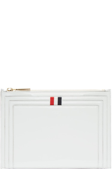 Thom Browne - White Patent Leather Large Coin Pouch