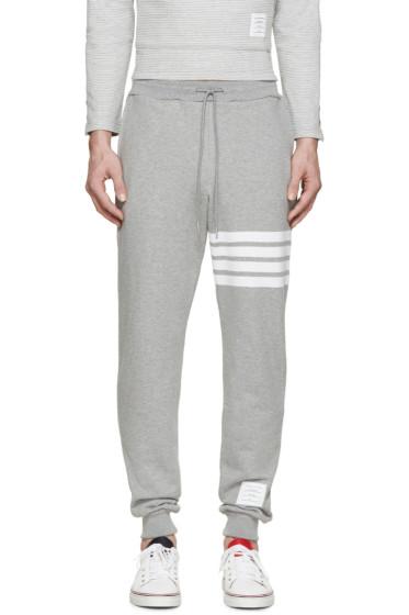 Thom Browne - Grey Striped Lounge Pants