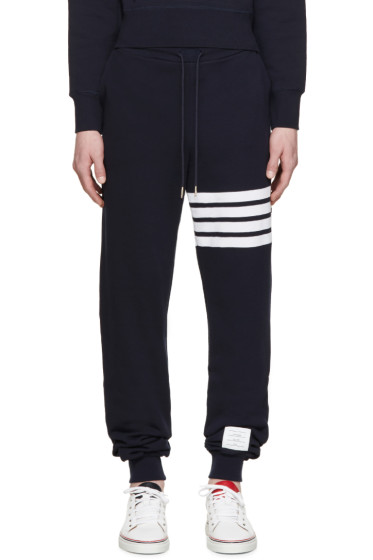 Thom Browne - Navy Striped Band Lounge Pants