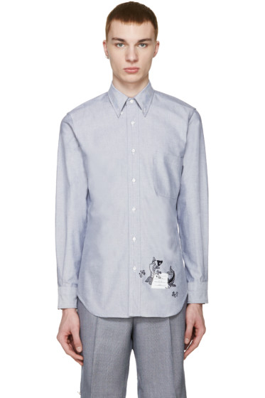 Thom Browne - Blue Oxford Koi Shirt