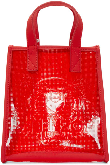Kenzo - Red Vinyl Tiger Tote
