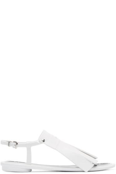 Kenzo - White Rubber Fringed Sandals