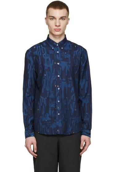 Kenzo - Blue Cactus Print Shirt