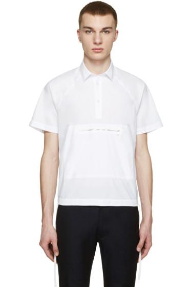 Kenzo - White Poplin Zip Front Shirt