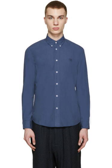 Kenzo - Blue Embroidered Tiger Shirt