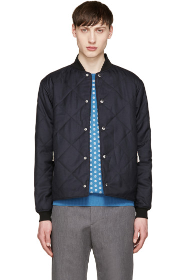 Maison Kitsuné - Navy Quilted Cody Bomber