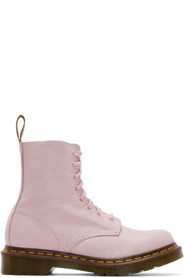 Dr. Martens - Pink Eight-Eye Pascal Boots