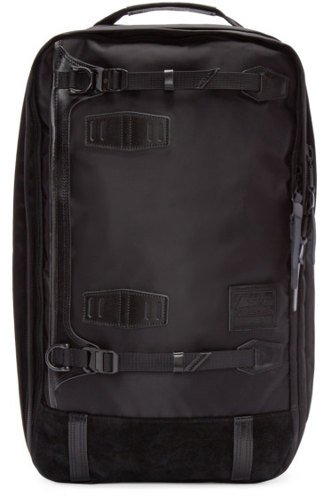 Master-Piece Co - Black Nylon 3-Way Backpack