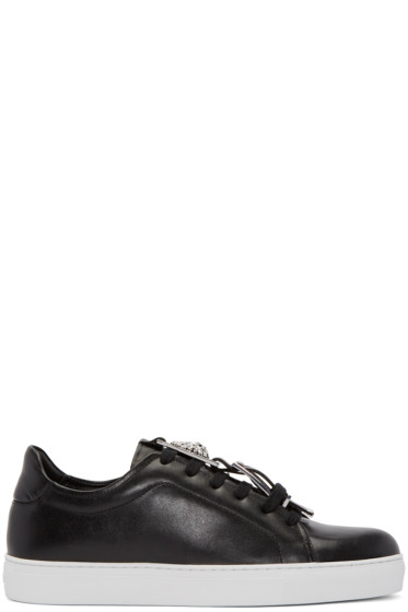 Versus - Black Accent Strap Sneakers