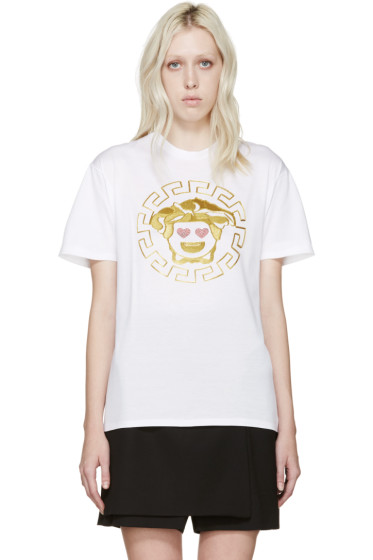 Versace - White Emoji Medusa T-Shirt