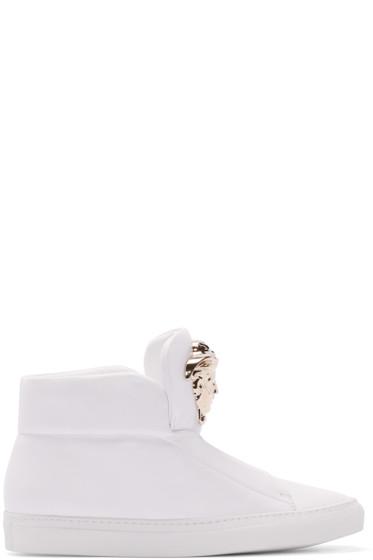 Versace - White Medusa High-Top Sneakers