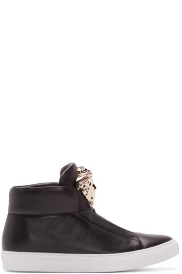 Versace - Black Medusa High-Top Sneakers