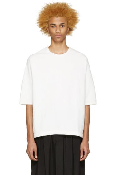 Sasquatchfabrix - White Waffle Knit T-Shirt