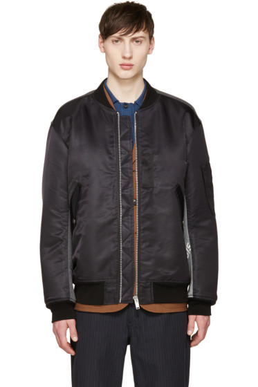 Undercover - Black Combination Bomber Jacket