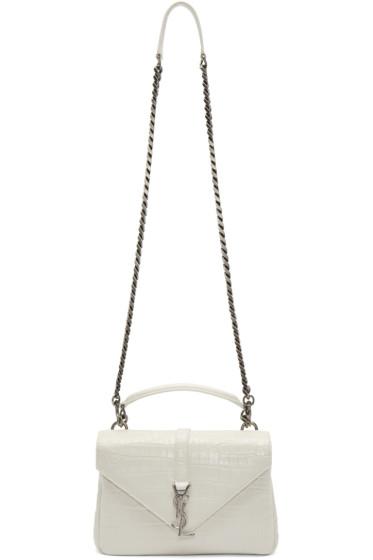 Saint Laurent - White Medium Monogram College Bag