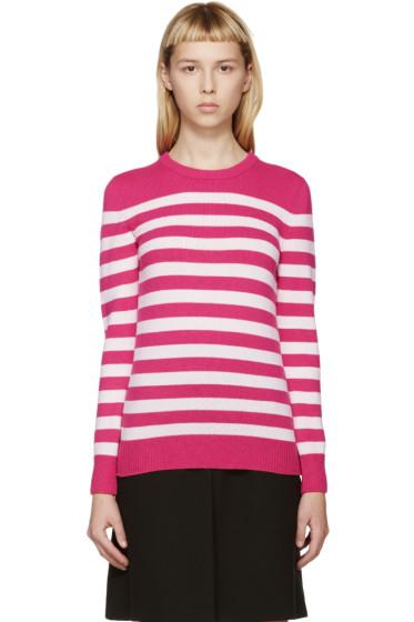 Saint Laurent - Pink & Cream Cashmere Sweater