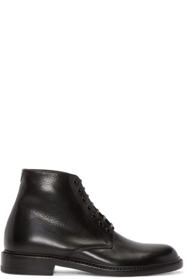 Saint Laurent - Black Leather Lolita Boots