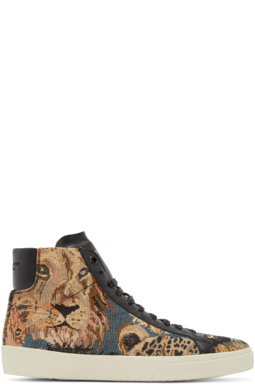 Saint Laurent - Multicolor Tapisserie Court Classic High-Top Sneakers