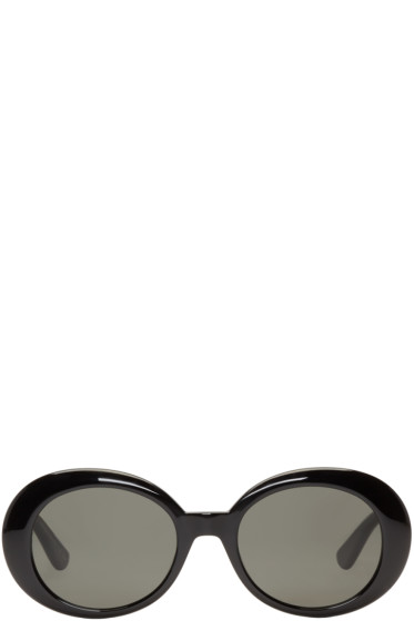 Saint Laurent - Black Oval SL 98 California Sunglasses