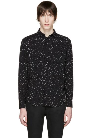 Saint Laurent - Black & White Polka Dot Shirt