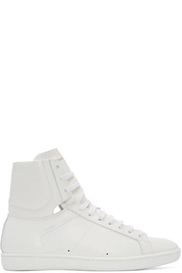 Saint Laurent - White SL/01 Court Classic High-Top Sneakers