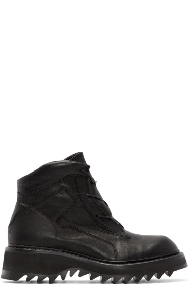 Julius - Black Leather Hiking Boots