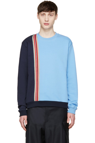 MSGM - Blue Striped Tape Pullover