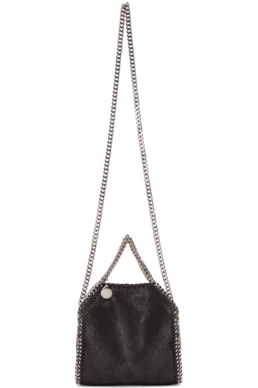 Stella McCartney - Black Tiny Falabella Shaggy Deer Tote