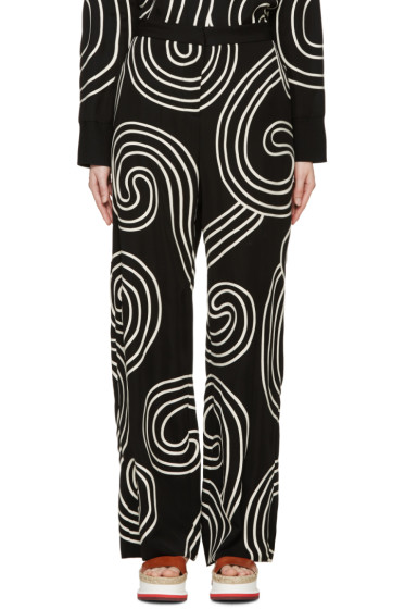 Stella McCartney - Black Swirl Ribbon Trousers