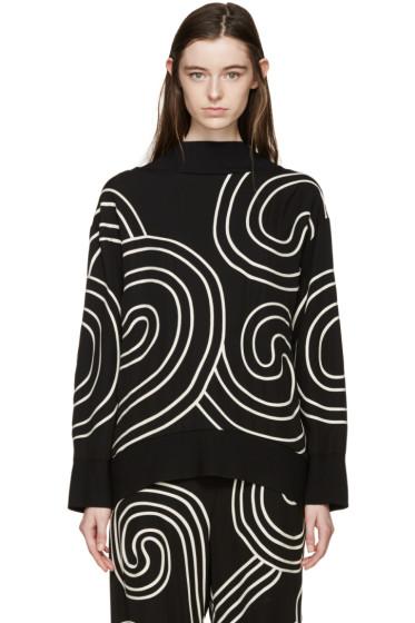 Stella McCartney - Black Swirl Ribbon Sweater