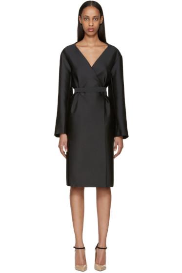 Nina Ricci - Black Double-Breasted Mikado Dress