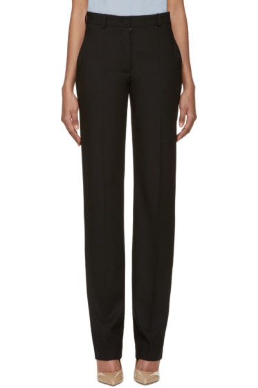 Nina Ricci - Black Wool Gabardine Trousers