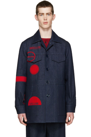 J.W.Anderson - Indigo Denim Mac Jacket