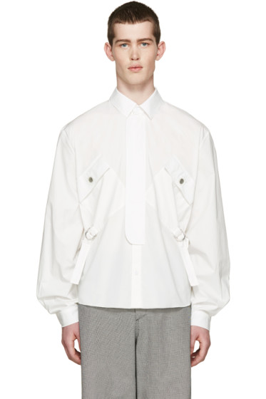 J.W.Anderson - White Cinch Strap Shirt
