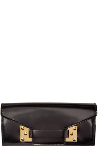 Sophie Hulme - Black Leather Envelope Wallet