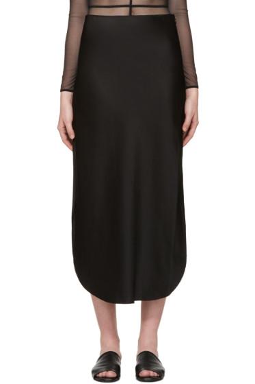 Calvin Klein Collection - Black Satin Skirt