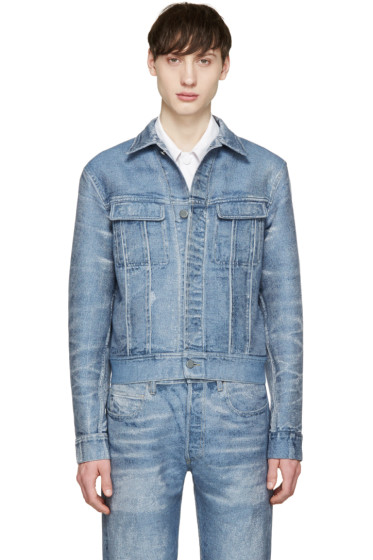 Calvin Klein Collection - Blue Distressed Denim Jacket