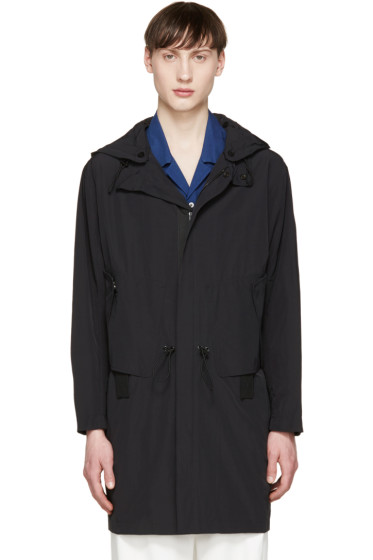 Tim Coppens - Black Nylon Hooded Coat