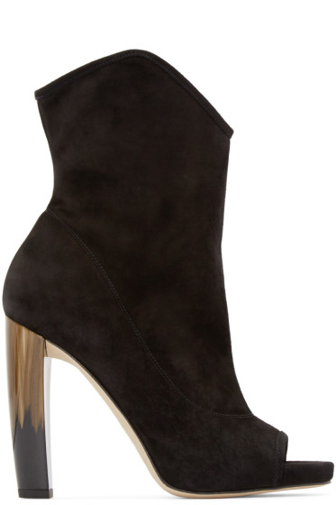 Jimmy Choo - Black Suede Maja Ankle Boots