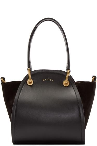 Maiyet - Black Leather & Suede Mini Peyton Tote
