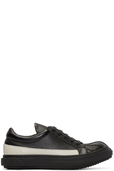 D.Gnak by Kang.D - Black & White Leather Band Sneakers