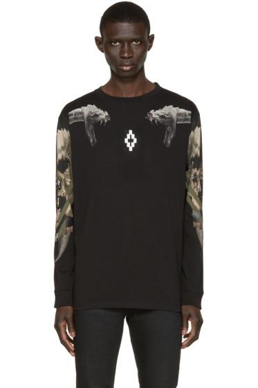 Marcelo Burlon County of Milan - Black Longe Sleeve Pontoetoe T-Shirt