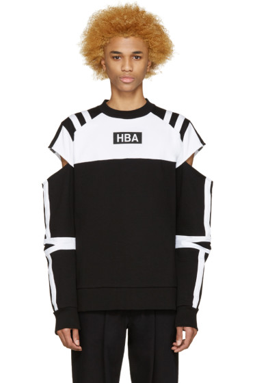 Hood by Air - Black & White Logo Fracture Pullover